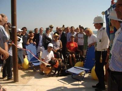 Inaugurazione spiaggia accessibile di montesilvano