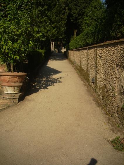 viale accessibile Villa d'Este a Tivoli