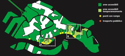 Aree accessibili venezia