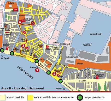 Riva degli Schiavoni accessibile venezia