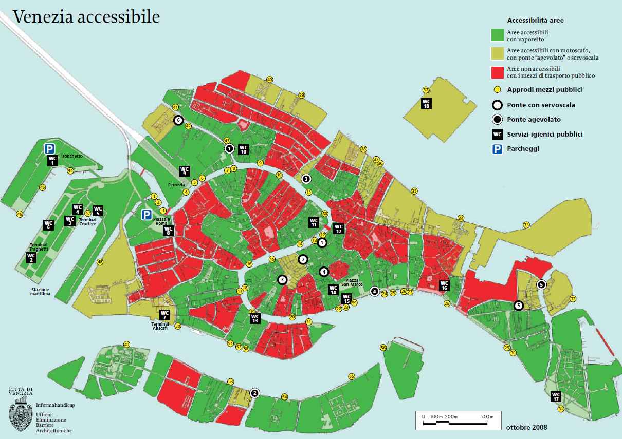 bagni accessibili a venezia • Turismo per Disabili, Vacanze Accessibili