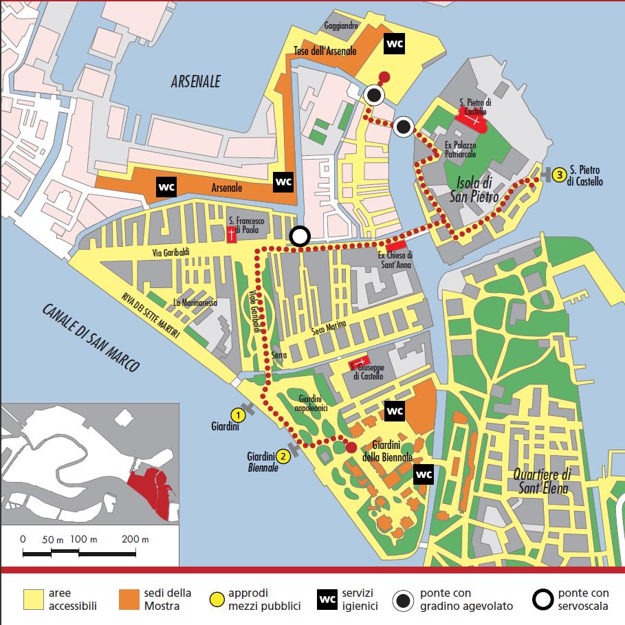 Cartina Turistica Venezia Pdf.Diversamente Agibile Mappa Di Venezia Accessibili Turismo Per Disabili Vacanze Accessibili