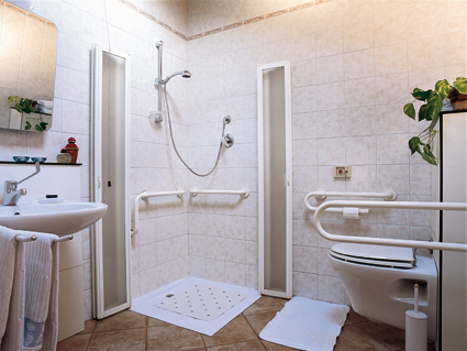 bagno accessibile residence adelaide