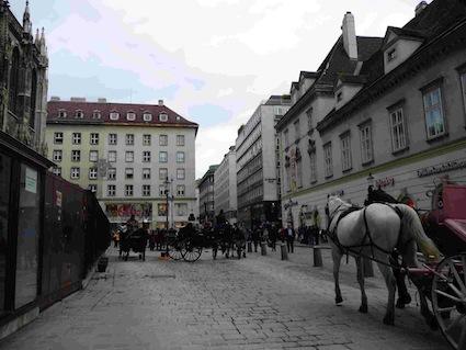 la piazza della cattedrale di vienna