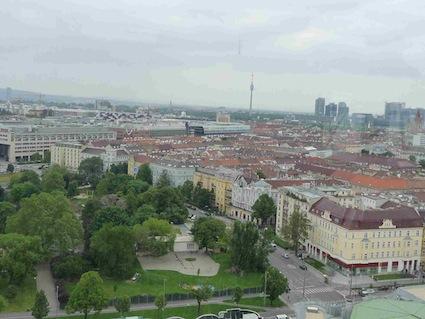 Vista di Vienna dal Prater