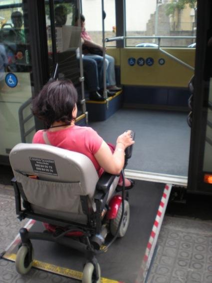 Foto autobus accessibili Barcellona