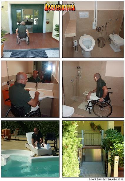 stanza e bagno e piscina accessibili