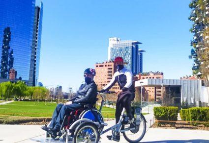 Foto della bicicletta per disabili